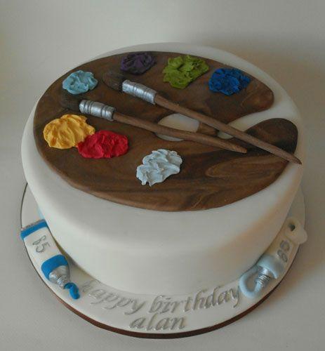 Cake art for an artistic teen.