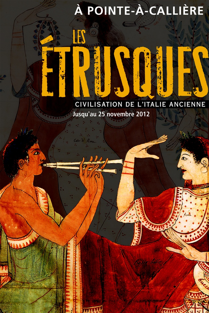 Les Étrusques - Civilisation de l'Italie ancienne, 2012 | © Design: Langevin Turcotte