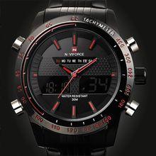 2015 deportes relojes hombres marca de lujo para hombre reloj del análogo LED Digital relojes para hombre de acero completo de relojes del cuarzo militar(China (Mainland))