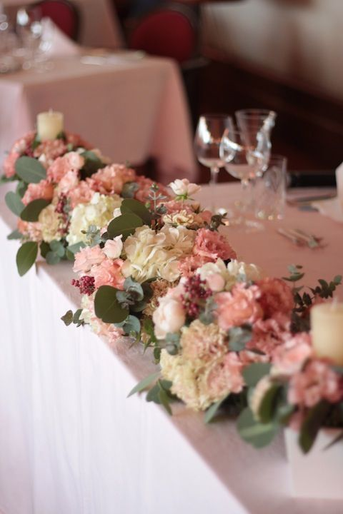 メインテーブル装花/会場装花/花どうらく/ウェディング/Party /Wedding/decoration/http://www.hanadouraku.com/