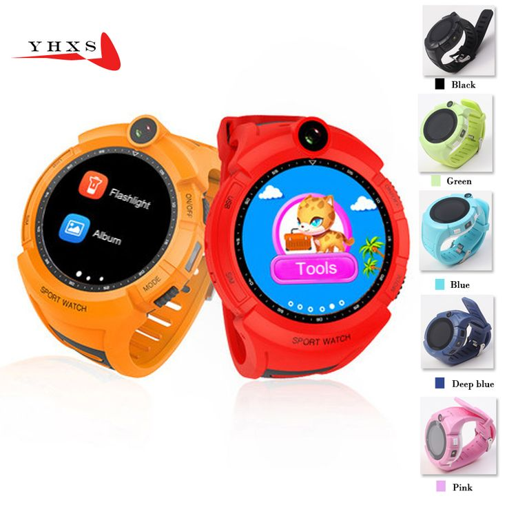 Buy  1.22' Touch Round Screen Smart Location Finder Device GPS Tracker Watch for Baby Kid Flashlight Remote Monitor Camera Wristwatch