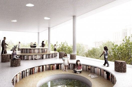 Library in the trees - children's area
