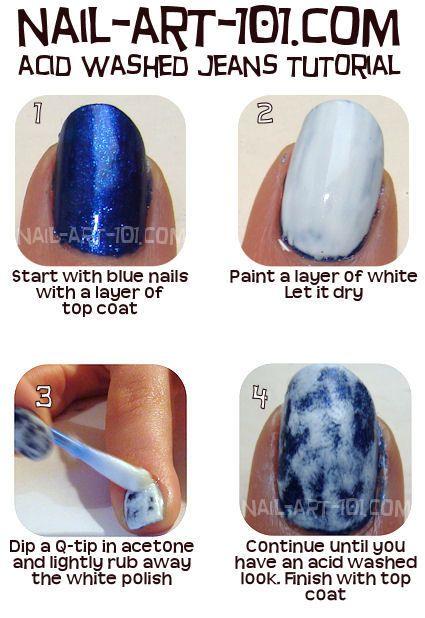 Acid Wash Nails Tutorial