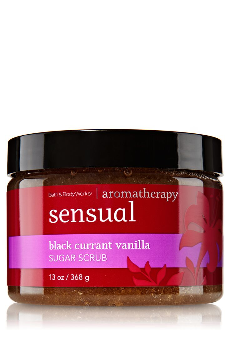 Sensual Black Currant Vanilla Sugar Scrub by Bath & Body Works.