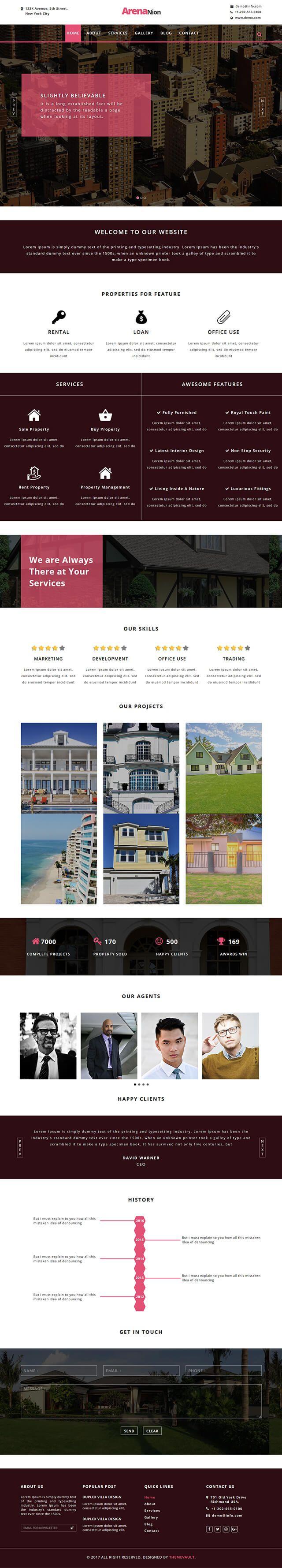 ArenaNion - Free Multipurpose html5 Real Estate Template