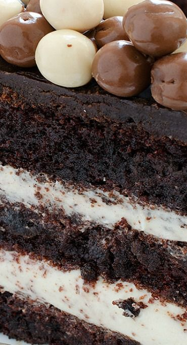 Chocolate Layer Cake with Cream Cheese Filling