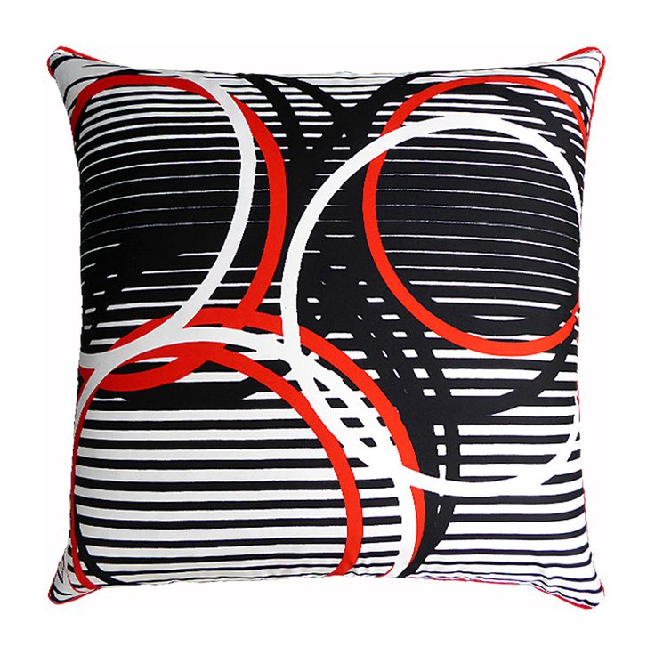 Olympic Circles Vintage Cushion