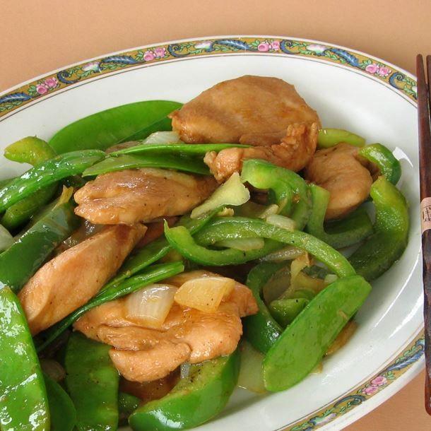 Sauté de poulet et pois mange-tout sans gluten
