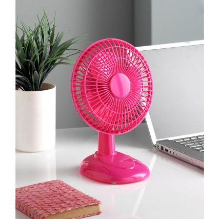 237274 6 Inch Desk Fan Pink