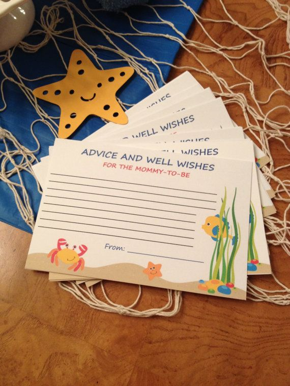 Under the Sea Baby Shower Advice and Well Wishes by Here4TheParty, $6.00