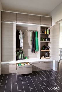 mudroom with modern finishes