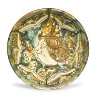 """A plate, Deruta, Giacomo Mancini (known as """"El Frate"""") workshop, first half of the [...], An Important Selection of Majolica works from private collections (Genova) à Cambi Casa d'Aste 