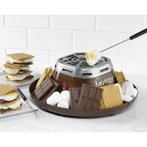 Indoor Smores Maker Electric S'Mores Party Fun Fondue Campfire Treat Kid Snack #IndoorSmoresMaker