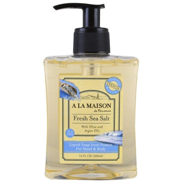 A La Maison de Provence, Liquid Soap For Hands & Body, Fresh Sea Salt, 10 fl oz (300 ml)