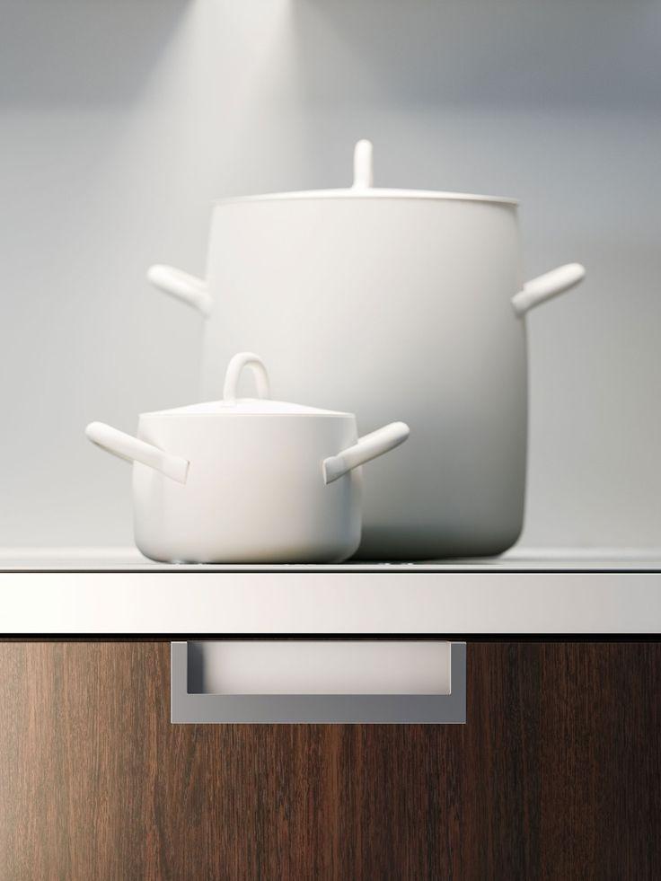 Cucine Moderne Con Isola: Design E Luce Con Lux | Snaidero. Dettaglio  Maniglia.