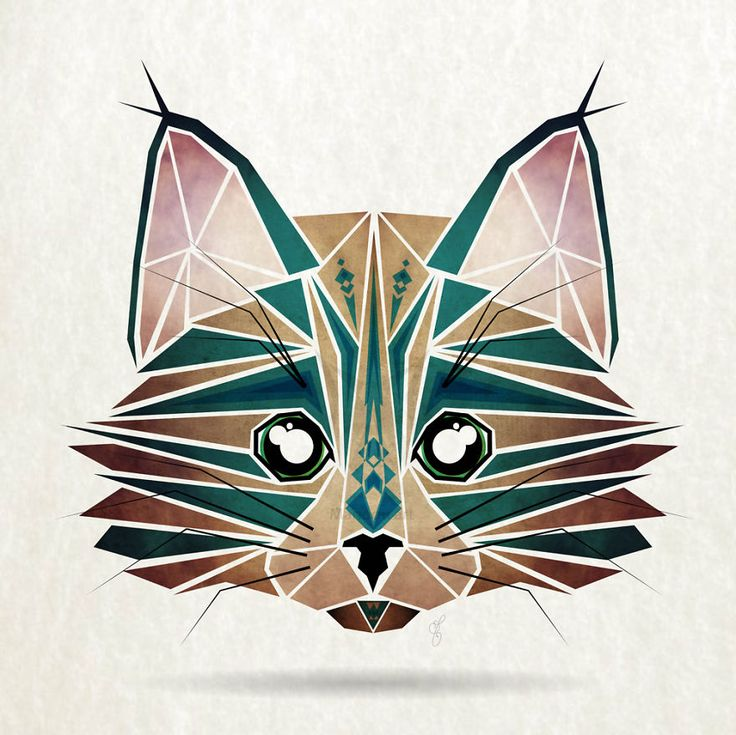 Inspired By Tangram, I Started Creating Geometric Illustrations Of Animals | Bored Panda