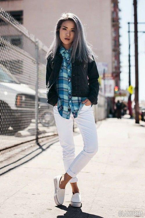 С чем носить белые джинсы этим летом | GLAMUSHA.ru