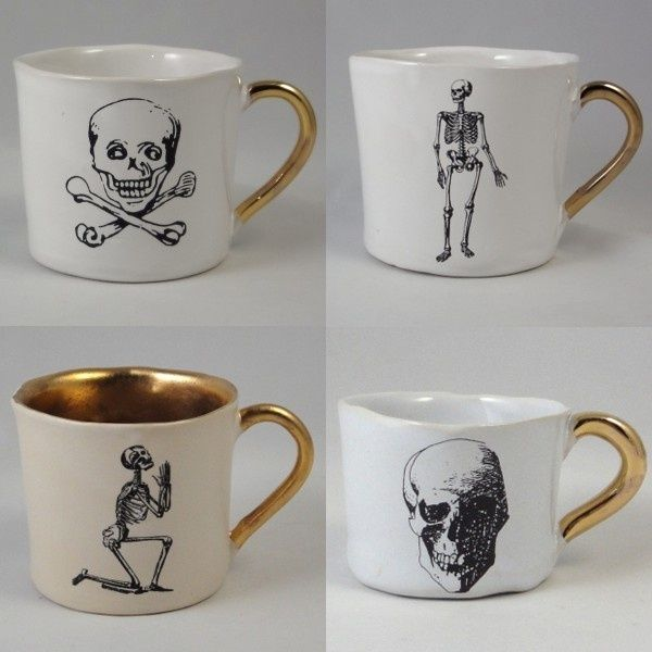 Skull tea cup set #home #decor #diy