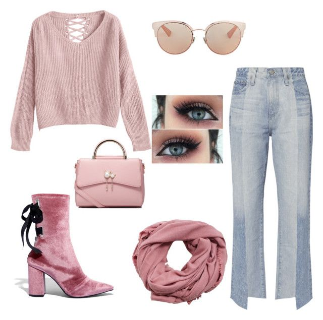 """Untitled #45"" by mariastoica on Polyvore featuring Robert Clergerie, WithChic, Christian Dior, MANGO and AG Adriano Goldschmied"
