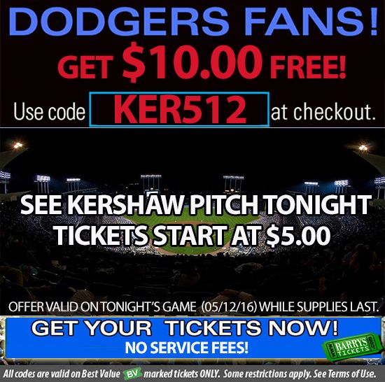 Los Angeles Dodgers Coupon Codes. backpricurres.gq The Los Angeles Dodgers are pleased to offer discount tickets to Roca Network fans. promotional code 50% Off Enjoy!! ORK Show Coupon Code. Shared by @franky_frank SAVE. WITH COUPON CODE Want to go to a game?.