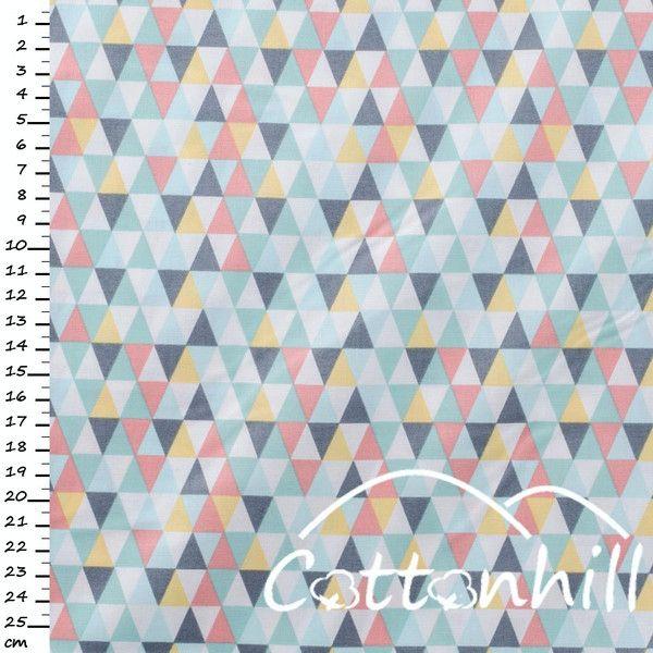 bawełna Timeless Treasures TRIANGLE GEO MULTI - CottonhillFabric - Materiał motywy graficzne