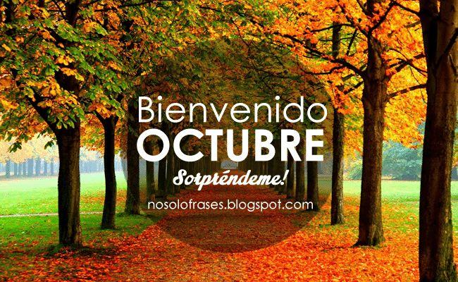 No Solo Frases: Bienvenido Octubre... Sorpréndeme!