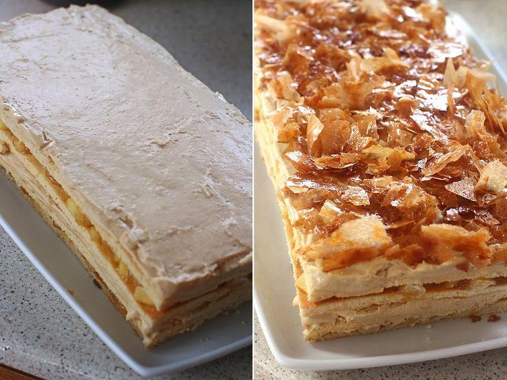 preparare prajitura cu mere si caramel
