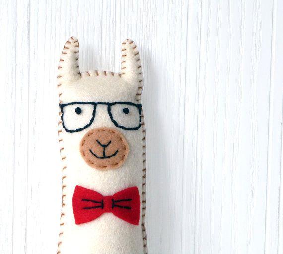 Llama Sewing Pattern, Hipster Llama Pattern, Felt Llama Plushie, Llama Softie, Llama. ◅. ▻