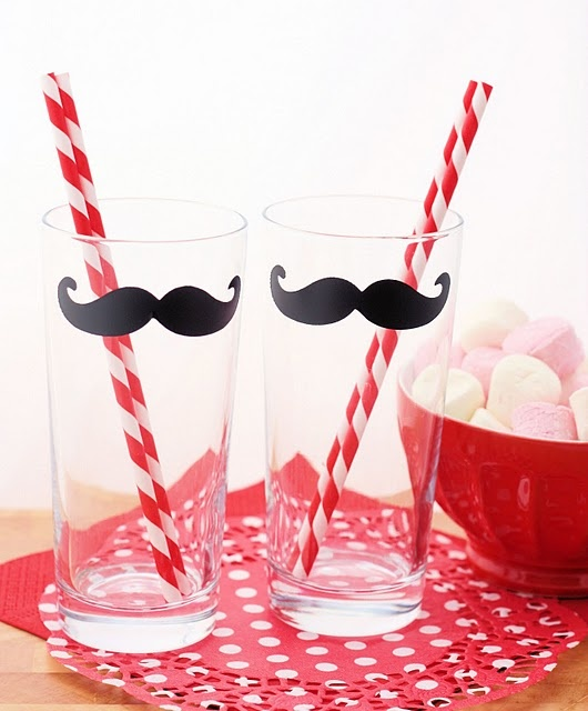 @MarianneJohnson  I can make these for you if you'd like.  Pick up some glasses from the dollar store and some cute straws