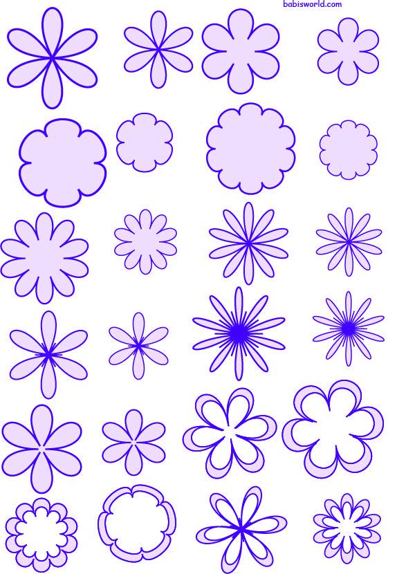 flores para aplique ou molde