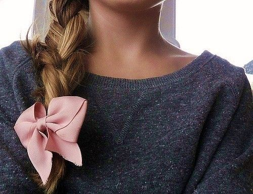 love: Cardigans, Hairbows, Hairstyles, Long Hair, Braids, Pink Bows, Hair Bows, Hair Style, Big Bows