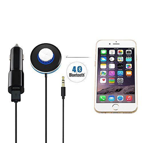 OceanHeart <b>Bluetooth</b> 4.0 Receiver <b>Handsfree Car Kit</b> W/2-Port USB ...