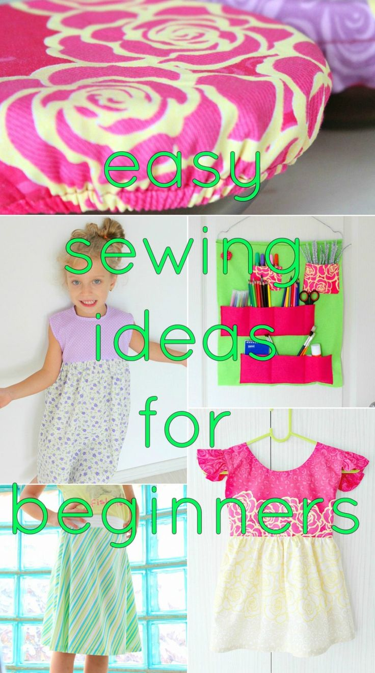 The ultimate collection of beginners sewing project ideas to try right now! Grea…