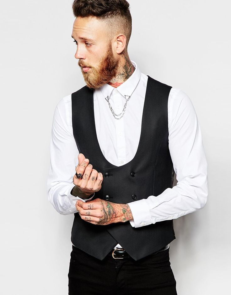 Religion X Noose & Monkey Double Breasted Waistcoat With Stretch in Skinny  Fit