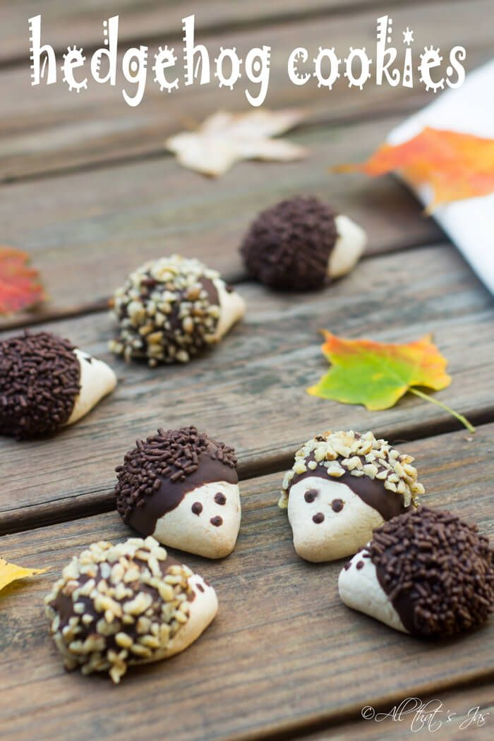 Hedgehog cookies - such a cute recipe idea to make as DIY gifts or party treats for friends and family
