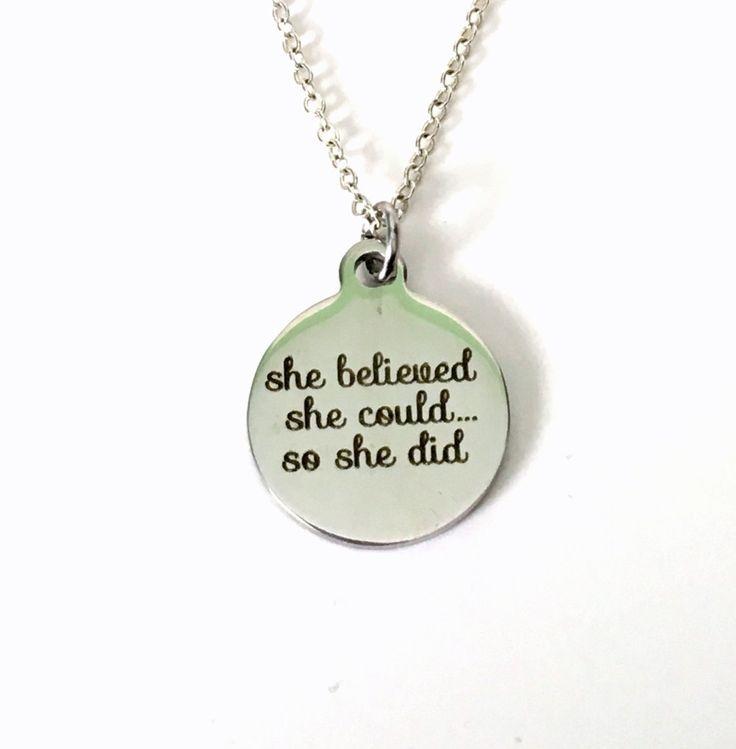 Achievement Necklace, Gifts for Graduation, Law of Attraction Jewelry, Motivation Congratulation Present Girlfriend The Secret Ideas by aJoyfulSurprise on Etsy