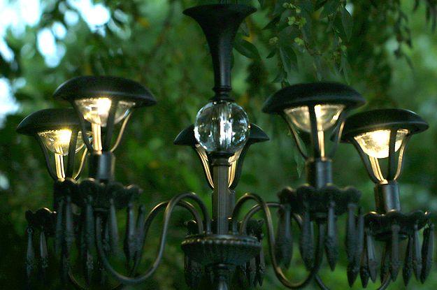 Light Up Your Garden With This Diy Solar Chandelier Kert
