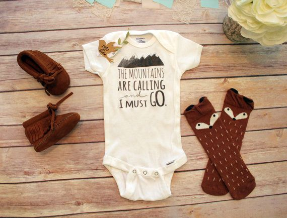 Mountains are Calling Onesie® Baby Boy Clothes by BittyandBoho