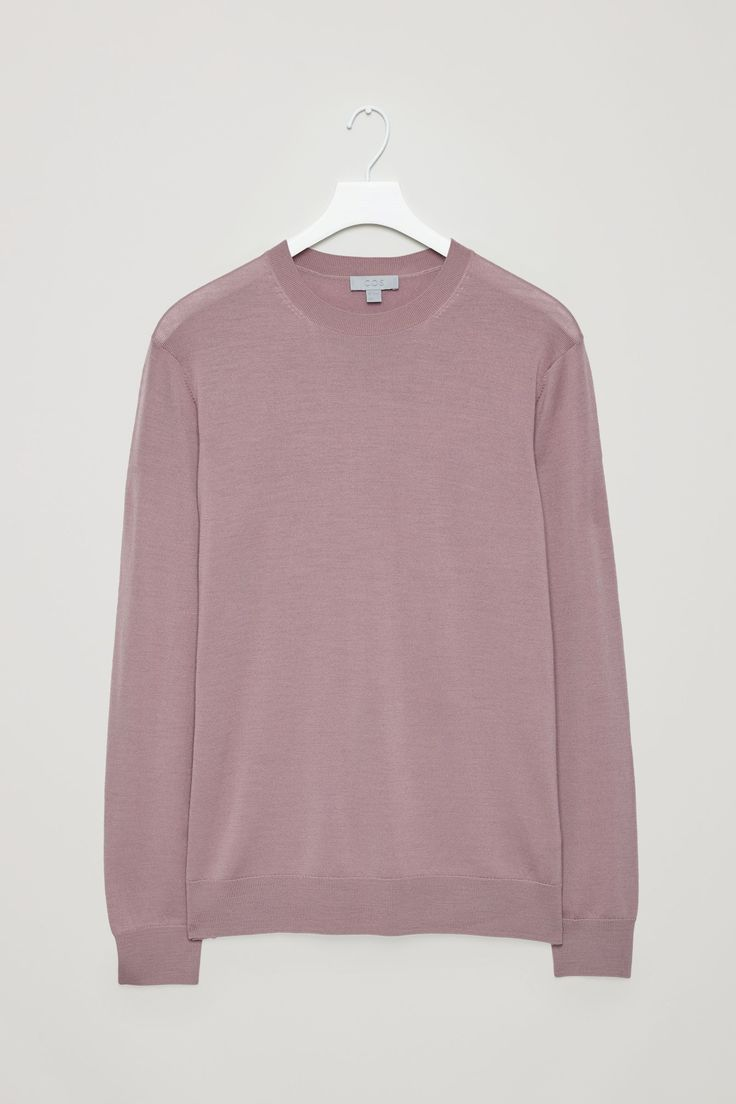 COS - Round-neck merino jumper in Pink, taglia M // 69€