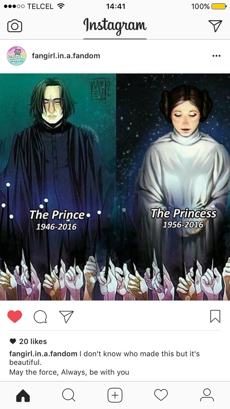 Rest in Peace Alan Rickman (played Snape) and Carrie Fisher (played Princess Leia). Amazing actor and actress, and we will miss you!