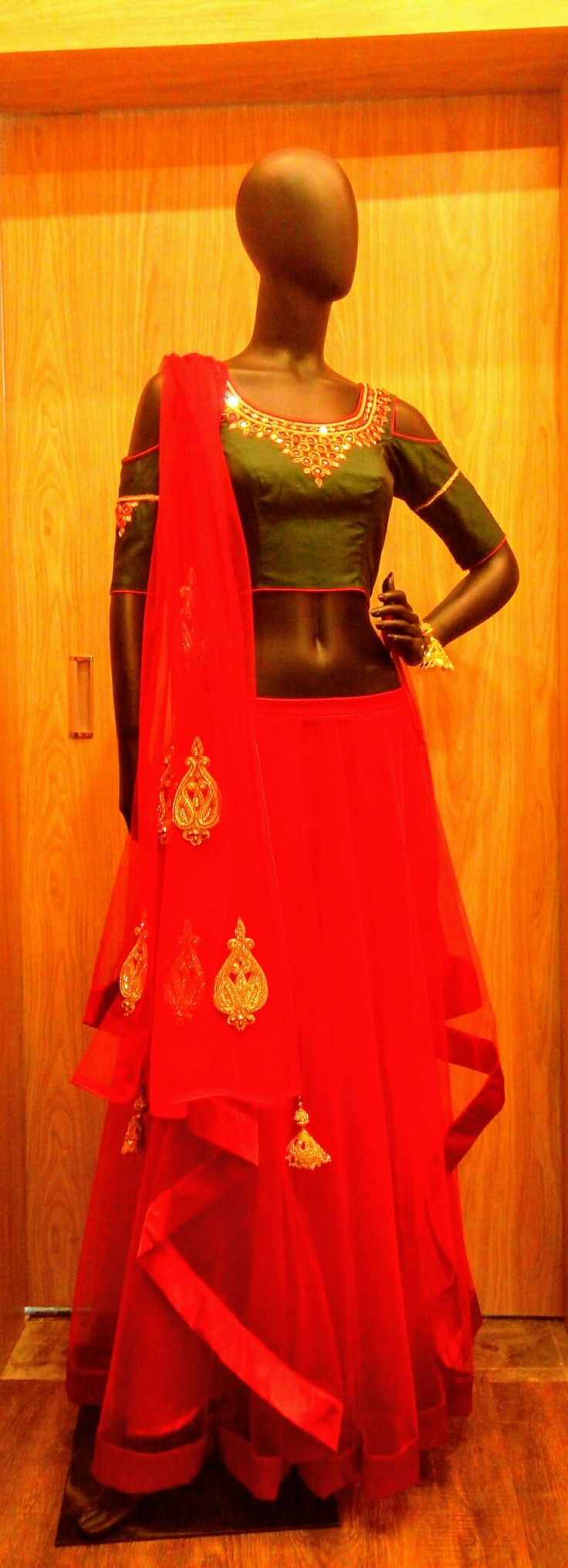 Red Lehenga set At Kapoor & Daughters
