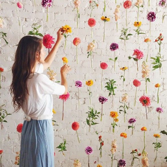 flower wall 11 Instagram Accounts to Follow If You Love Flowers via @domainehome