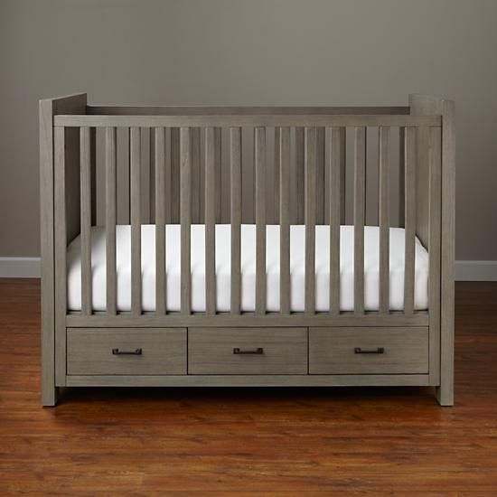 Keepsake Baby Crib with Storage (Greywash) | The Land of Nod