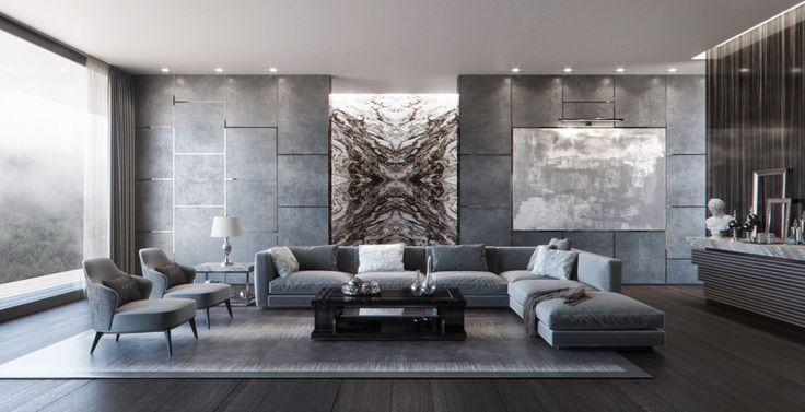 Modern Grey Living Room, Grey Living Room Sets