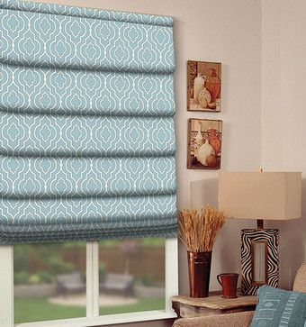 Blindsgalore Designer Roman Shades: Moroccan and Damask Print contemporary roman blinds