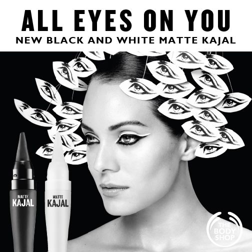 All eyes are on you with our Matte Kajal Black Eyeliner. Perfect for creating a smoky eye look, the smart, easy-grip packaging ensures a mistake-free application every time. http://www.thebodyshop.co.za/store/product/matte-kajal-black-eyeliner