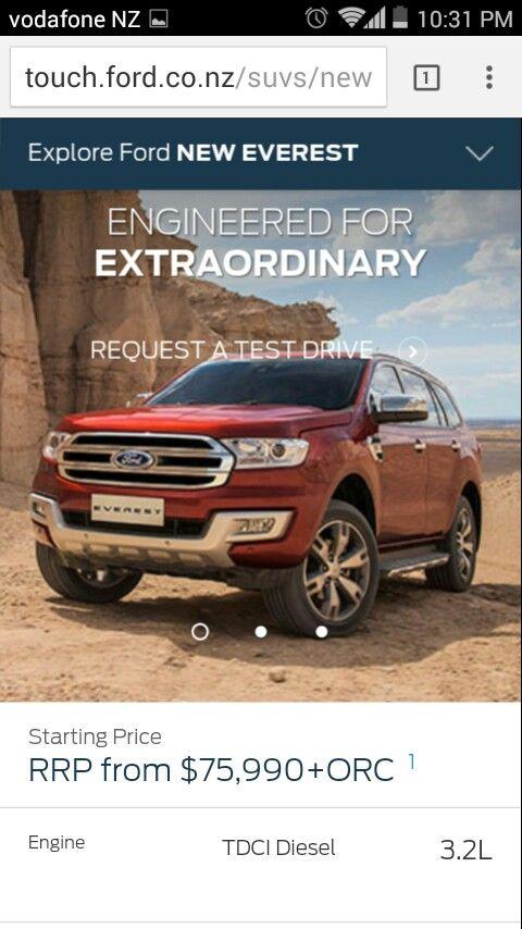Ford Everest Titanium, 2015 new.