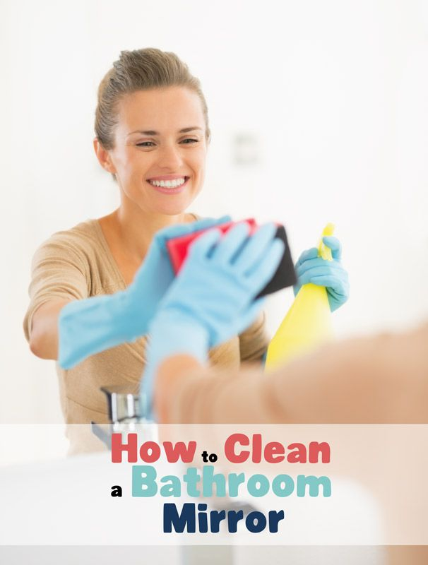 Here's how to clean a bathroom mirror with ease. It also doesn't require you to buy any bathroom cleaning chemicals either.