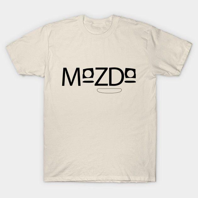 [Cars T-shirt] Mazda MX-5 / Miata NA Cute Mazda logo with pop ups