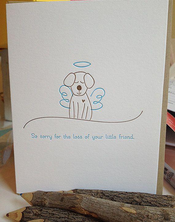sympathy card pet
